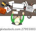Mass media background in a flat style.Press 27955003
