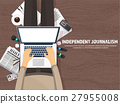 Mass media background in a flat style.Press 27955008