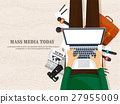 Mass media background in a flat style.Press 27955009
