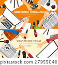 Mass media background in a flat style.Press 27955040
