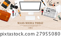 Mass media background in a flat style.Press 27955080