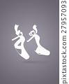 ballet dance studio symbol 27957093