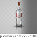 Glass vodka bottle with screw cap. 27957108