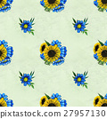 Seamless pattern with sunflowers and wildflowers 27957130