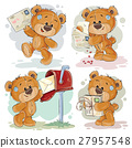 Set clip art illustrations of teddy bear gets and 27957548