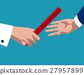 Businessman passing baton 27957899