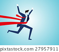 Success of a businessman in a finishing line 27957911