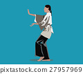 Woman performing Tai Chi. Concept illustration 27957969