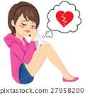 broken, heart, woman 27958200