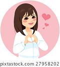 Asian Woman Heart Shape Hands 27958202