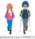 Couple Ski Winter Clothes 27958213