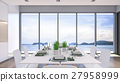 Sea view dining room / 3D Rendering 27958999
