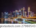 Singapore city skyline at night 27960543