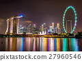 Marina Bay in Singapore at night 27960546