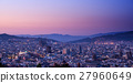 Barcelona in sunset time, Spain 27960649
