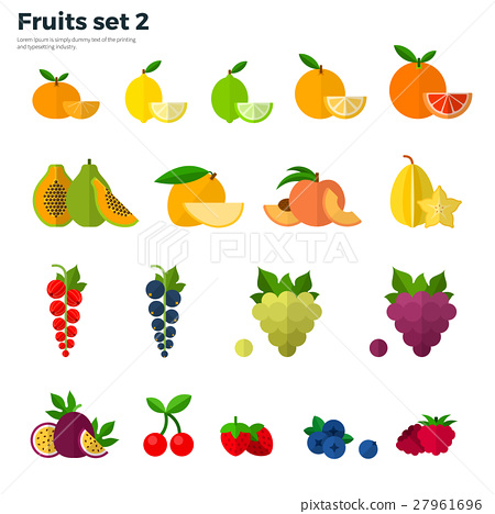 Healthy Concept Tropical Fruit on White Background 27961696