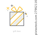 Thin line icons, Gift box 27962116