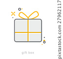 Thin line icons, Gift box2 27962117