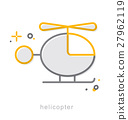 Thin line icons, Helicopter 27962119