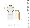 Thin line icons, Pepper and salt 27962134