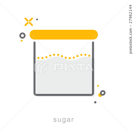 Thin line icons, Sugar bowl 27962144