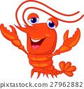 Cute lobster cartoon presenting 27962882