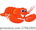 Cute lobster cartoon 27962900