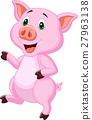 Cute pig cartoon 27963138