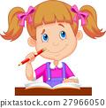Little girl studying 27966050