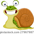Cute snail cartoon 27967987