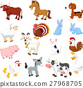 Farm animal collection set 27968705
