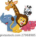 Happy safari animal cartoon 27968985