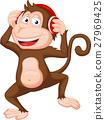 Cute monkey dancing 27969425