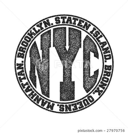 New York City Typography Graphics 27970756
