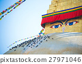 The Wisdom eyes on Boudhanath stupa  27971046