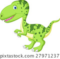 Cute dinosaur cartoon 27971237