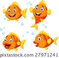 Cute fish cartoon collection set 27971241