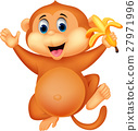 monkey, cartoon, vector 27971996