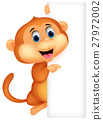 monkey, vector, animal 27972002