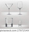 Set of glasses for alcohol in a realistic style 27972549