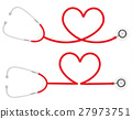 Stethoscope Heart Shape, medical concept, vector 27973751