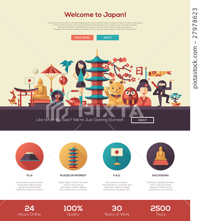 Traveling to Japan website header banner with 27978623