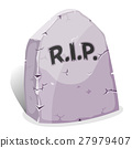 Cartoon Tombstone With RIP 27979407