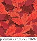 Seamless Winter Oak Tree Leaves Wallpaper 27979692