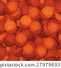Seamless Autumn Tree Leaves 27979693