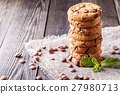 Chocolate chip cookies with mint and chocolate 27980713