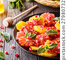 Homemade Citrus Salad with Grapefruit and Oranges. 27980732