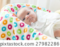 Cute little newborn baby girl wrapped in blanket 27982286