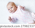 Portrait of cute adorable newborn baby child 27982337