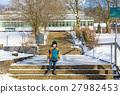 Little school kid boy of elementary class walking 27982453